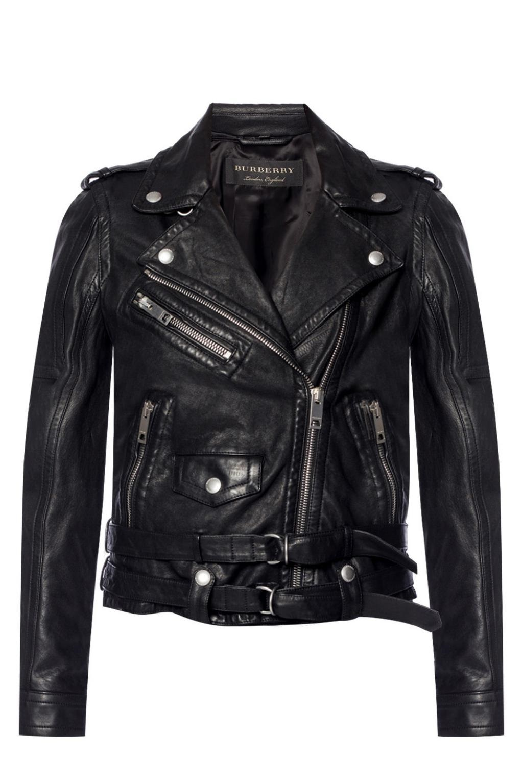 Burberry Reissued Biker Jacket In Black