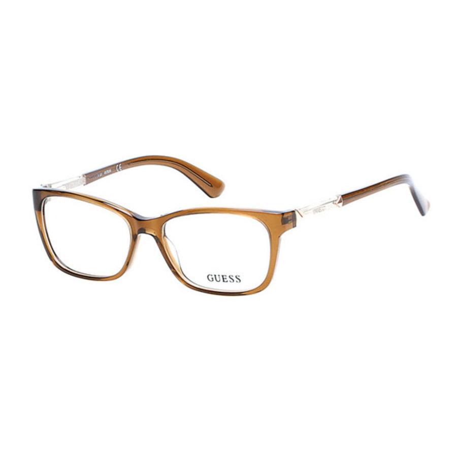 Guess Unisex Brown Rectangular Eyeglass Frames Gu256104550