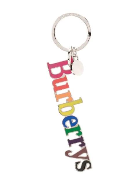 Burberry Rainbow Mens Archive Logo Key Charm In Multi