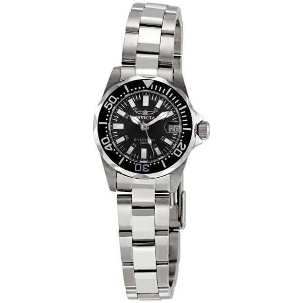 Invicta Sapphire Diver Black Dial Ladies Watch 7059 In Metallic