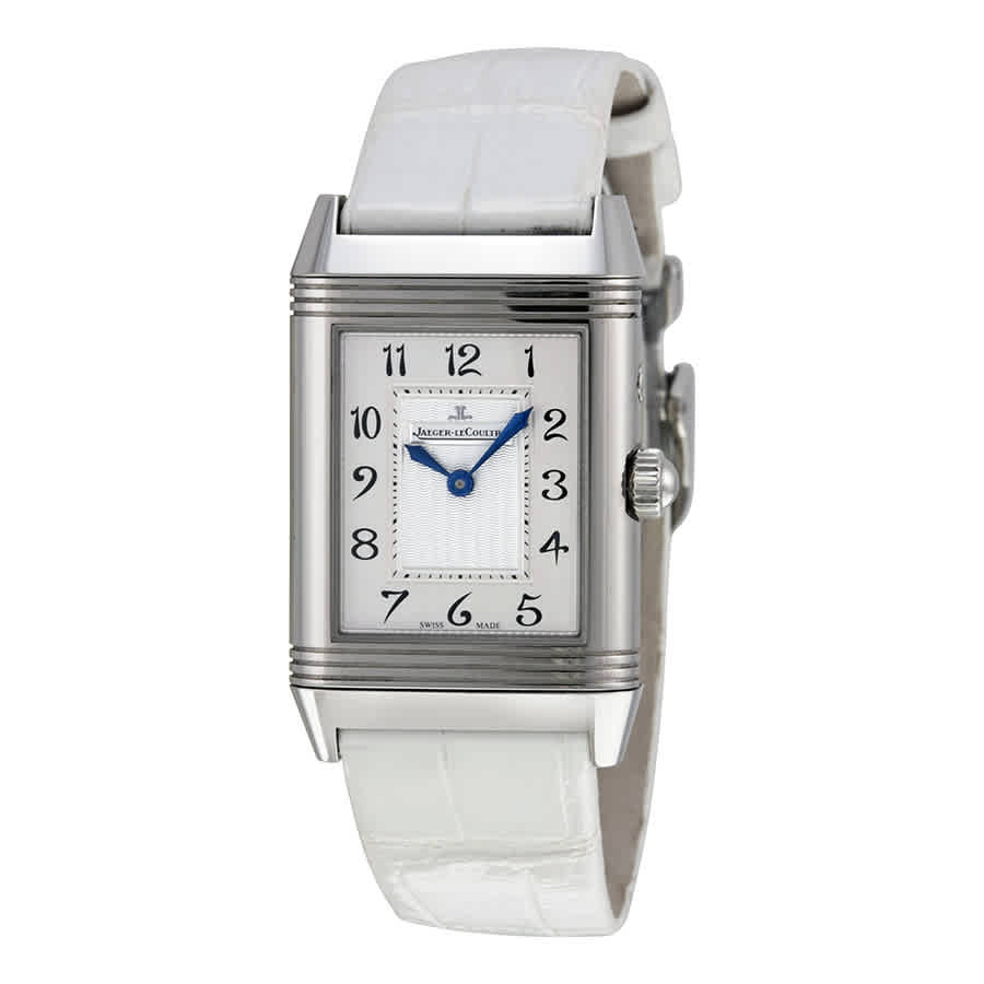 Jaeger-lecoultre Reverso Duetto Duo White Leather Ladies Watch Q2698420 In Metallic