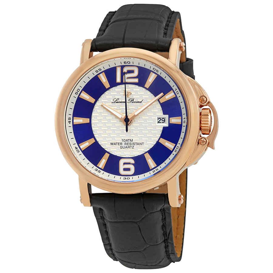 Lucien Piccard Triomf Blue Mens Watch Lp-40018-rg-03-sc In Black,blue,gold Tone,pink,rose Gold Tone,silver Tone