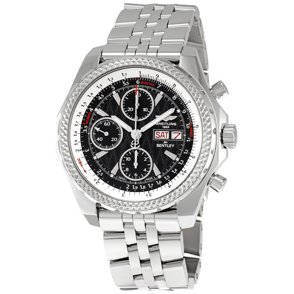 BREITLING PRE-OWNED BREITLING BREITLING FOR BENTLEY CHRONOGRAPH AUTOMATIC BLACK DIAL MENS WATCH A1336212/B960