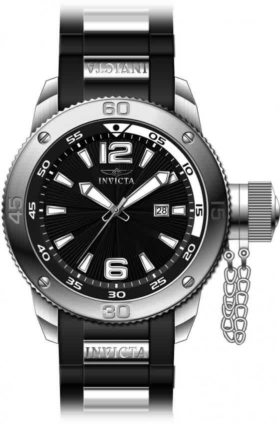 Invicta I-force Quartz Black Dial Mens Watch 12963