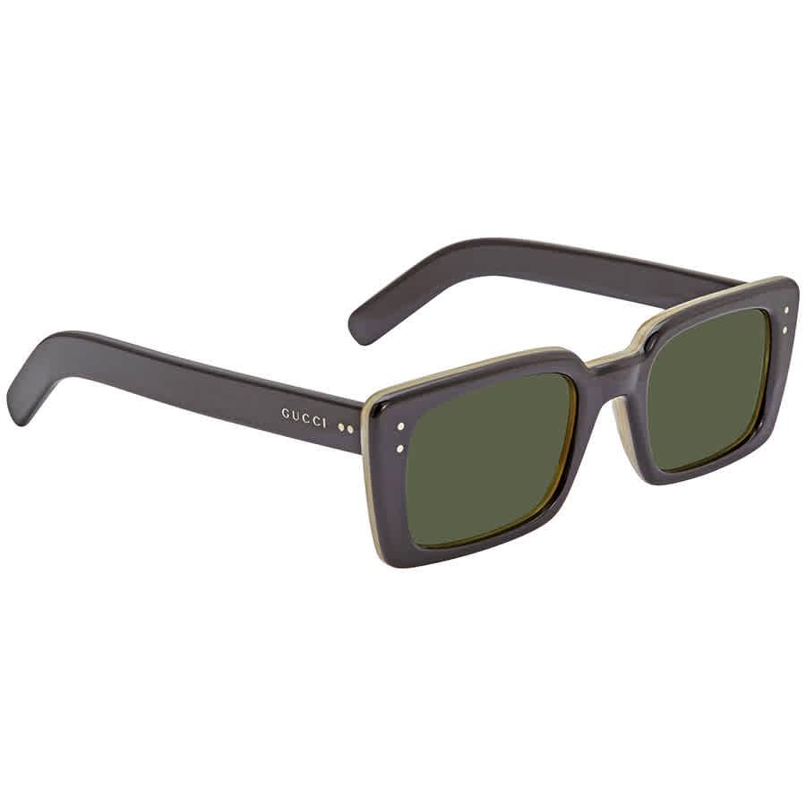 Gucci Green Rectangular 52mm Sunglasses Gg0539s 005 52 In Gray