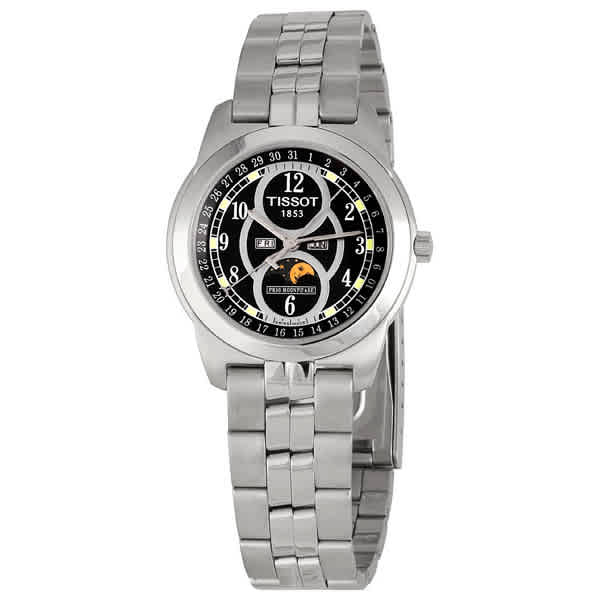 TISSOT PR50 MOONPHASE MENS WATCH WITH BLACK DIAL T012.423.11.052.00