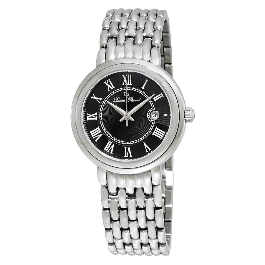 Lucien Piccard Fantasia Black Dial Ladies Watch 16539-11 In Metallic