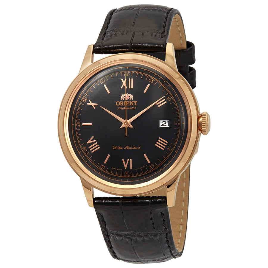 Orient 2nd Generation Bambino Automatic Black Dial Mens Watch Fac00006b0 In Black,gold Tone,pink,rose Gold Tone