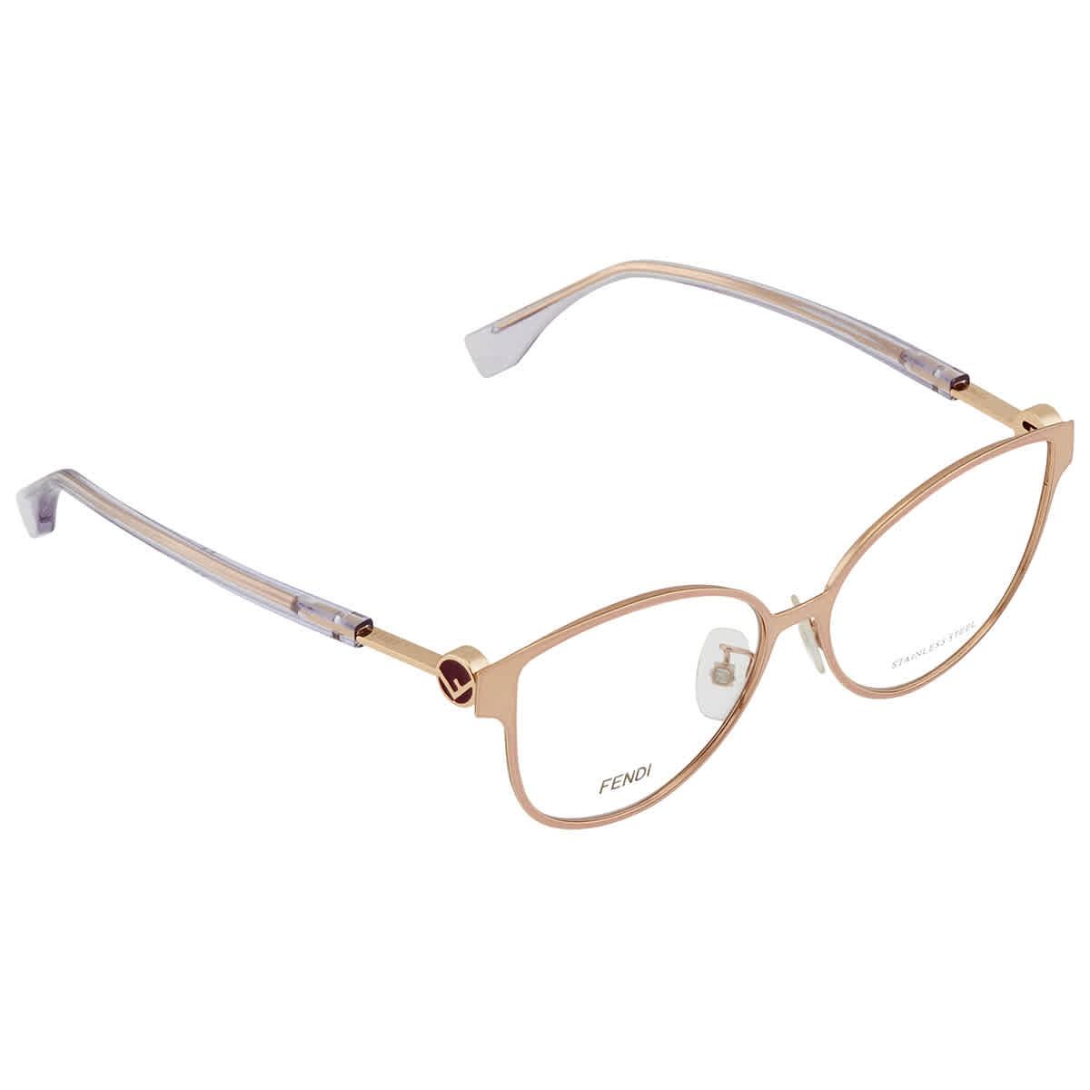 Fendi Demo Cat Eye Ladies Eyeglasses Ff0396f Ddb 53 In Gold