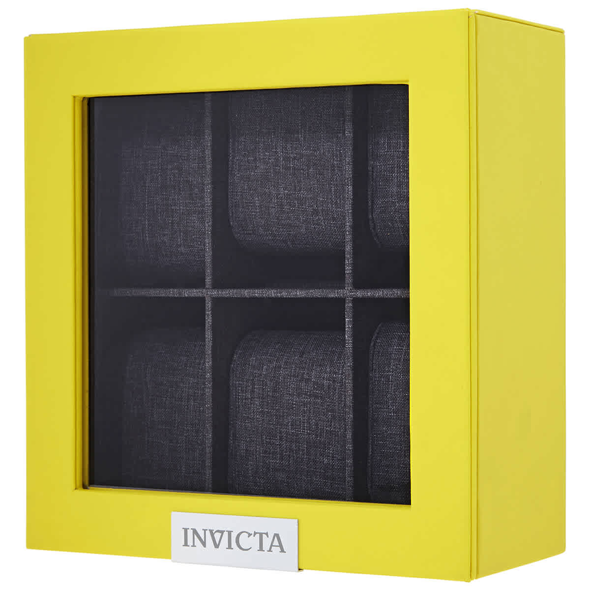 Invicta Watch 6-slot Display Case With Lid In Yellow