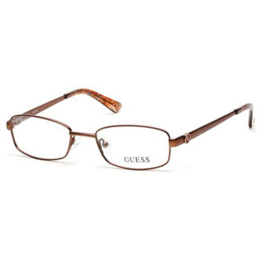 Guess Unisex Brown Square Eyeglass Frames Gu252404949