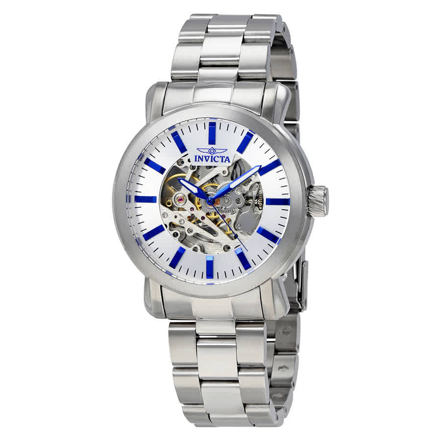 Invicta Vintage Objet D Art Automatic Silver Dial Mens Watch 22573 In Metallic
