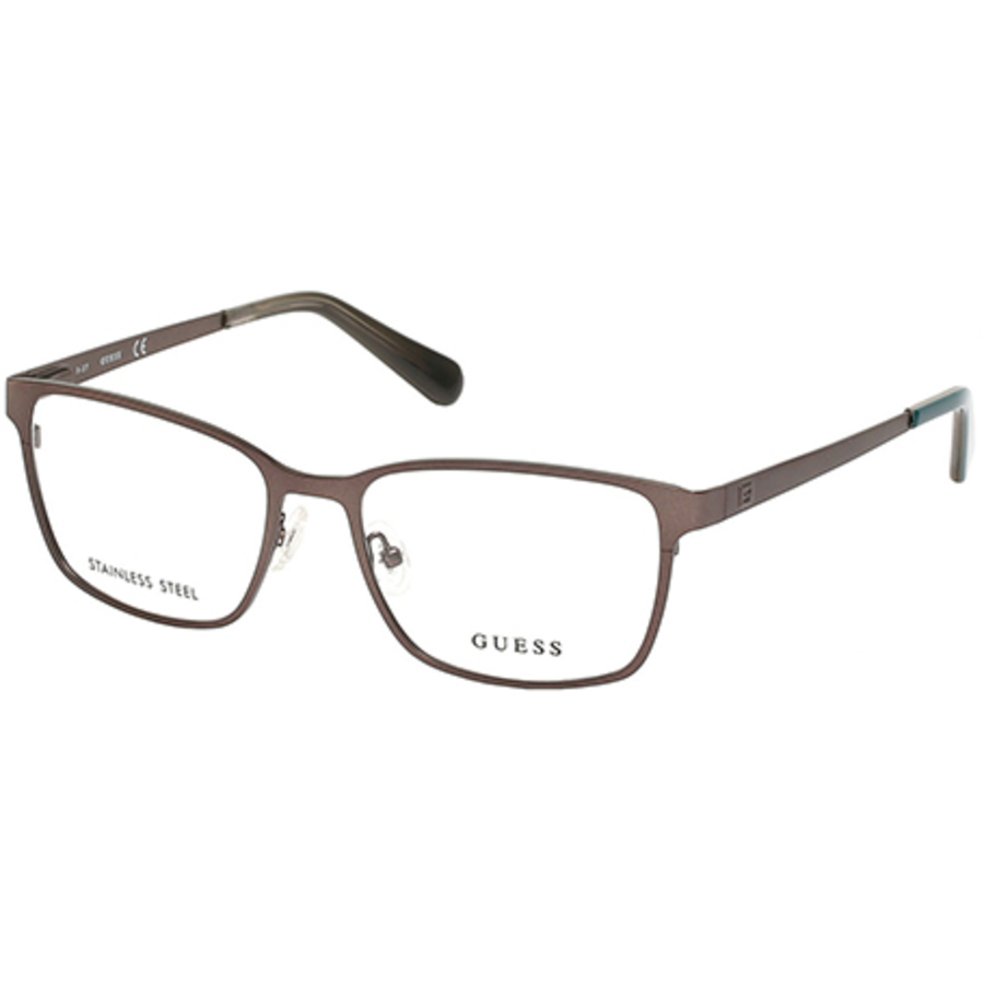Guess Mens Gunmetal Square Eyeglass Frames Gu195800956