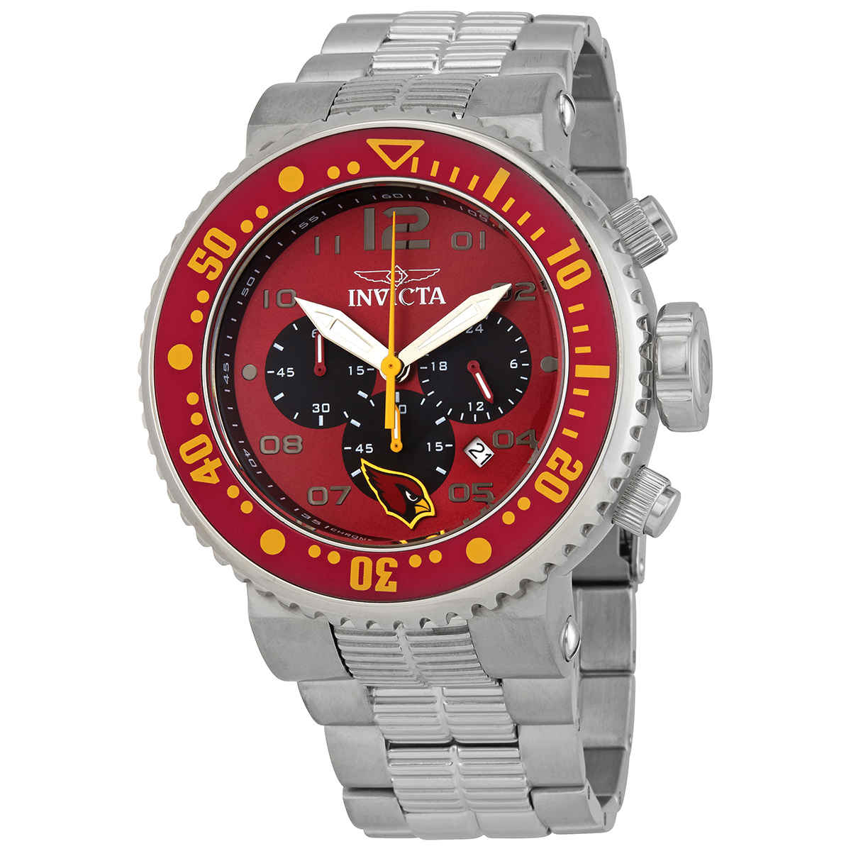 Invicta Nfl Arizona Cardinals Chronograph Quartz Mens Watch 30255 In Metallic