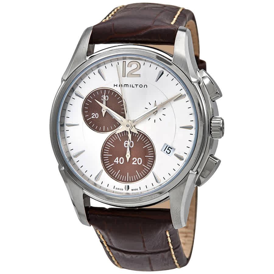 Hamilton Jazzmaster Chronograph Quartz Silver Dial Mens Watch H32612551 In Metallic