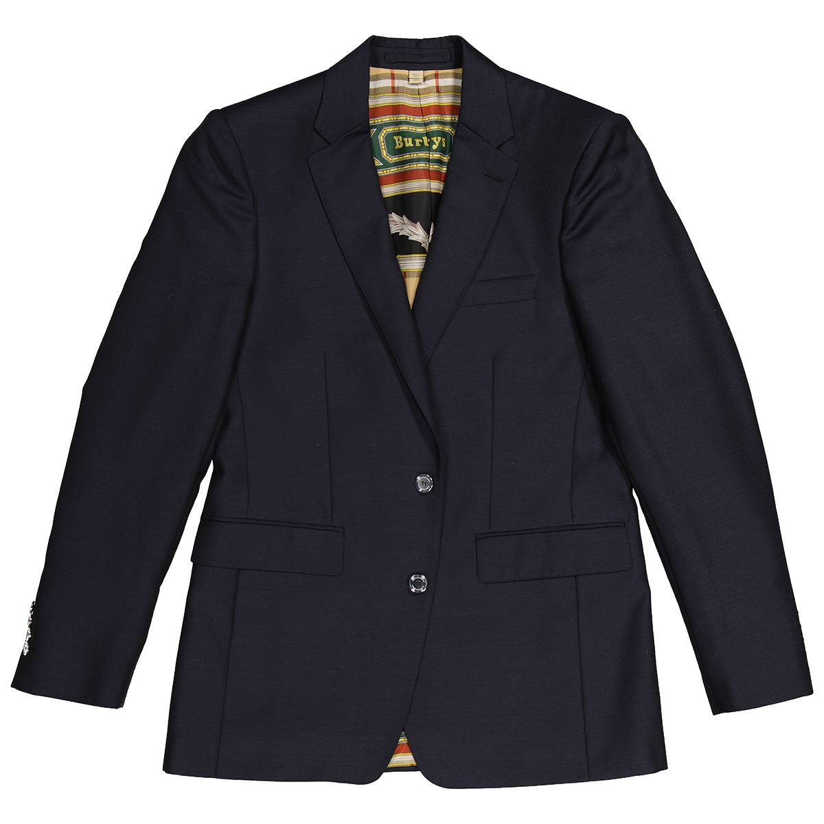 Burberry Mens Slim Fit Wool Mohair Tailored Jacket In Black