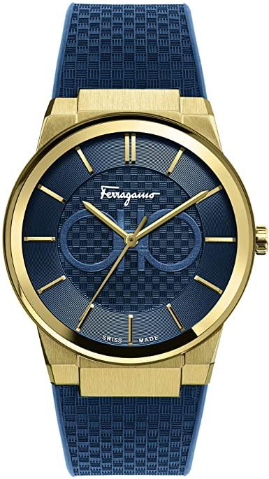 SALVATORE FERRAGAMO QUARTZ MENS BLUE BAND WATCH SFHP00220