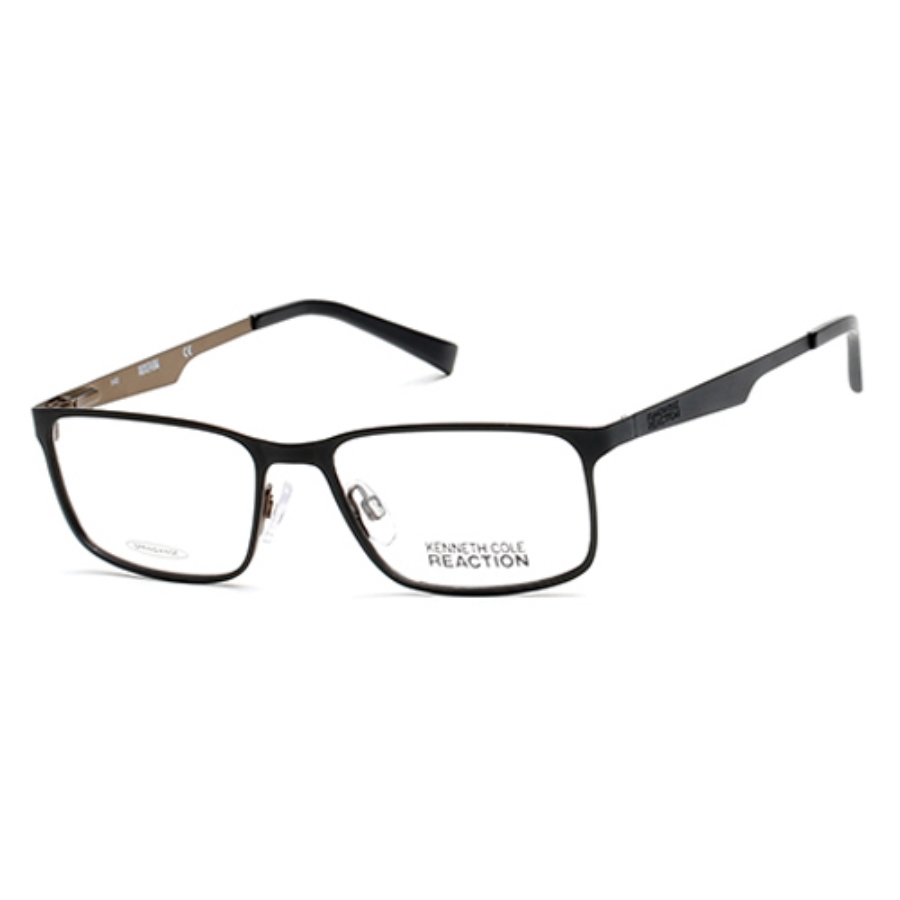 Kenneth Cole Reaction Square Unisex Eyeglasses Kc0762 5 54 In Black