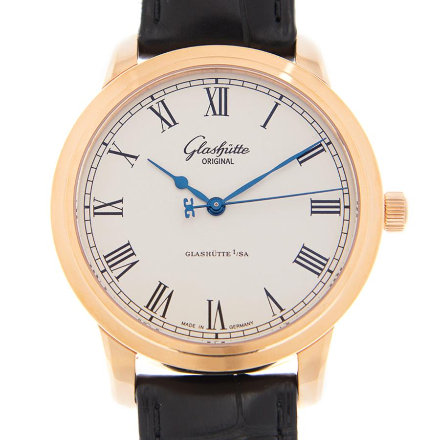 Glashutte Senator Silver Dial Automatic Mens Watch 39-59-01-05-04 In Black,blue,gold Tone,pink,rose Gold Tone,silver Tone