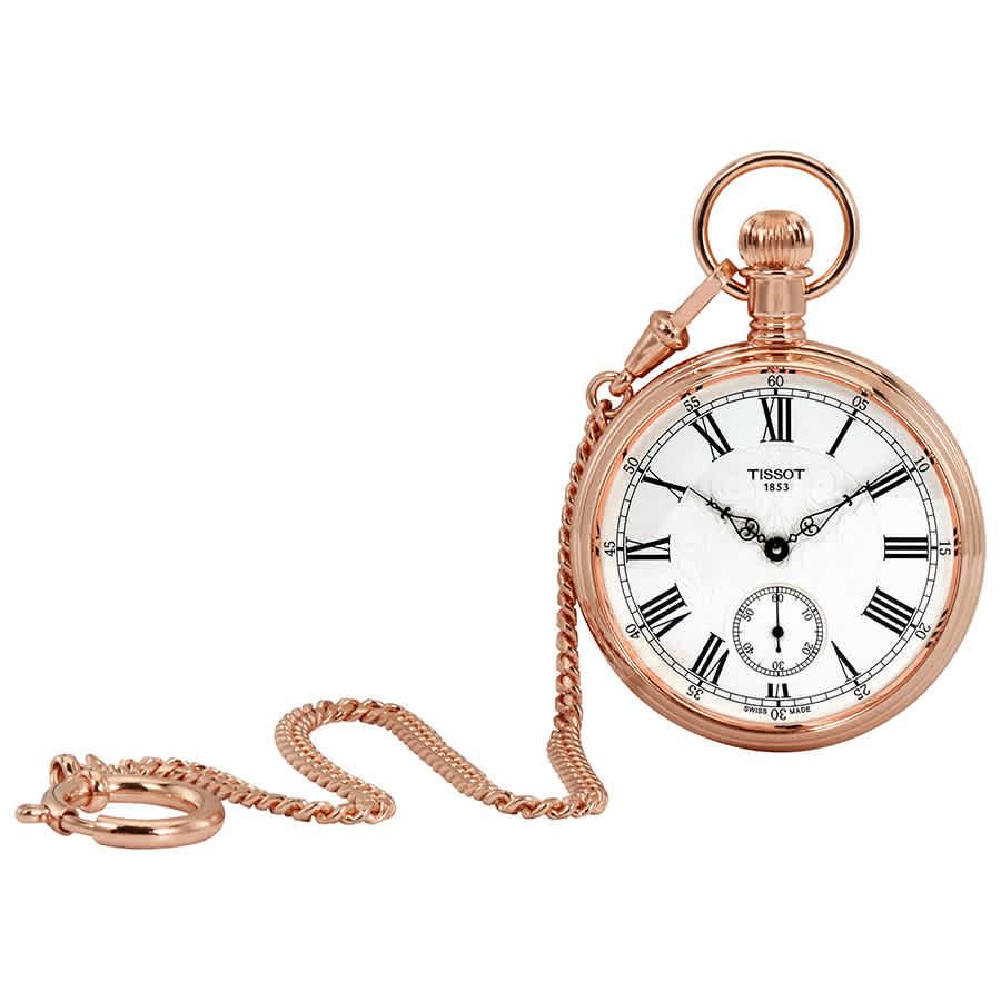 TISSOT LEPINE ROSE GOLD-TONE POCKET WATCH T8614059903301