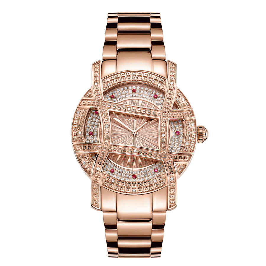 Jbw 10 Yr Anniversary Women's Olympia 0.20 Ctw Diamond 18k Rose Gold-plated Watch Jb-6214-10a In Gold Tone,pink,rose Gold Tone