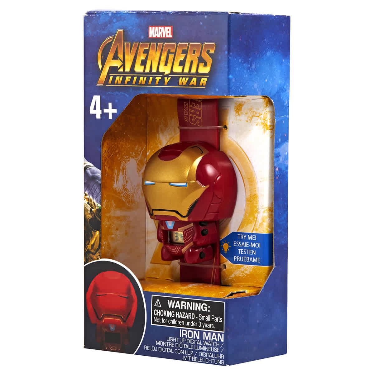 Lego Babies' Bulbbotz Infinity War Iron Man Quartz Watch 2021852 In Red