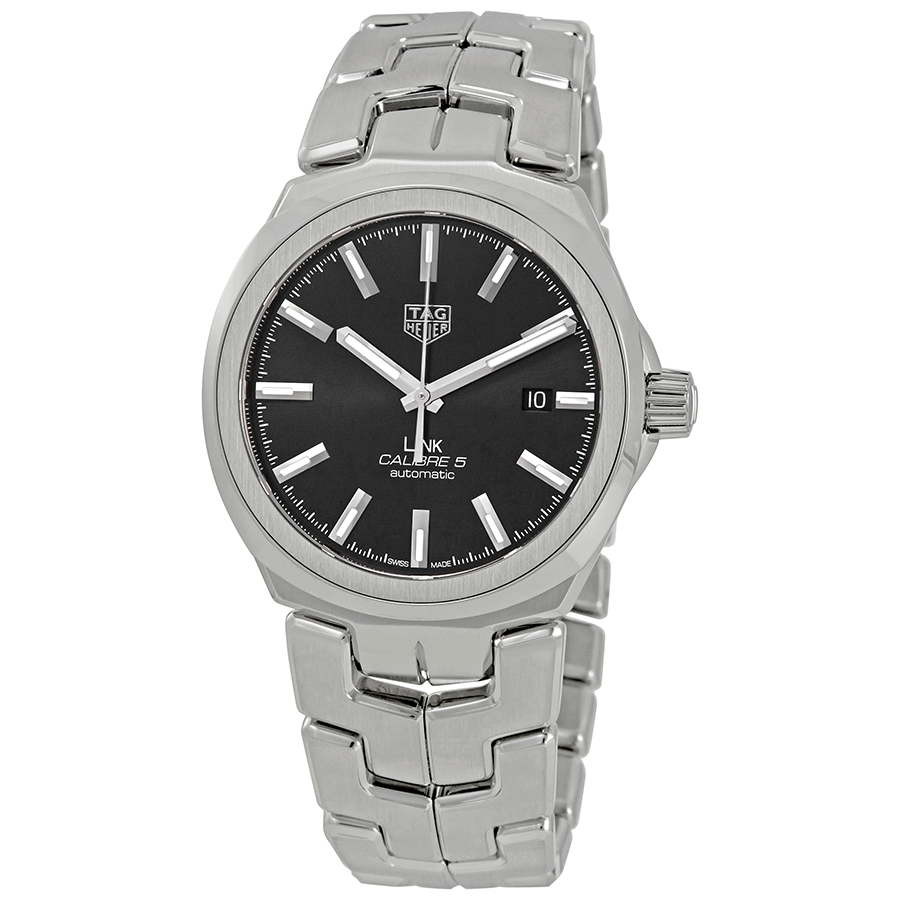 TAG HEUER PRE-OWNED TAG HEUER LINK AUTOMATIC BLACK DIAL MENS WATCH WBC2110.BA0603