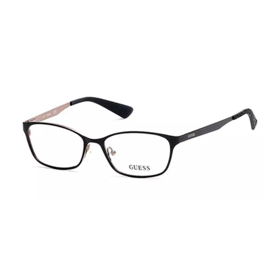 Guess Unisex Black Square Eyeglass Frames Gu256300249