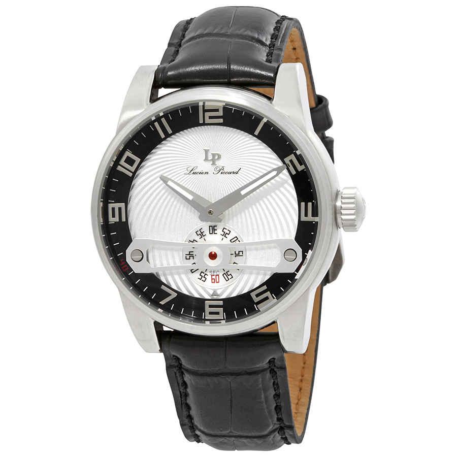 Lucien Piccard Bosphorus Mens Watch 40046-01-sc In Black,silver Tone