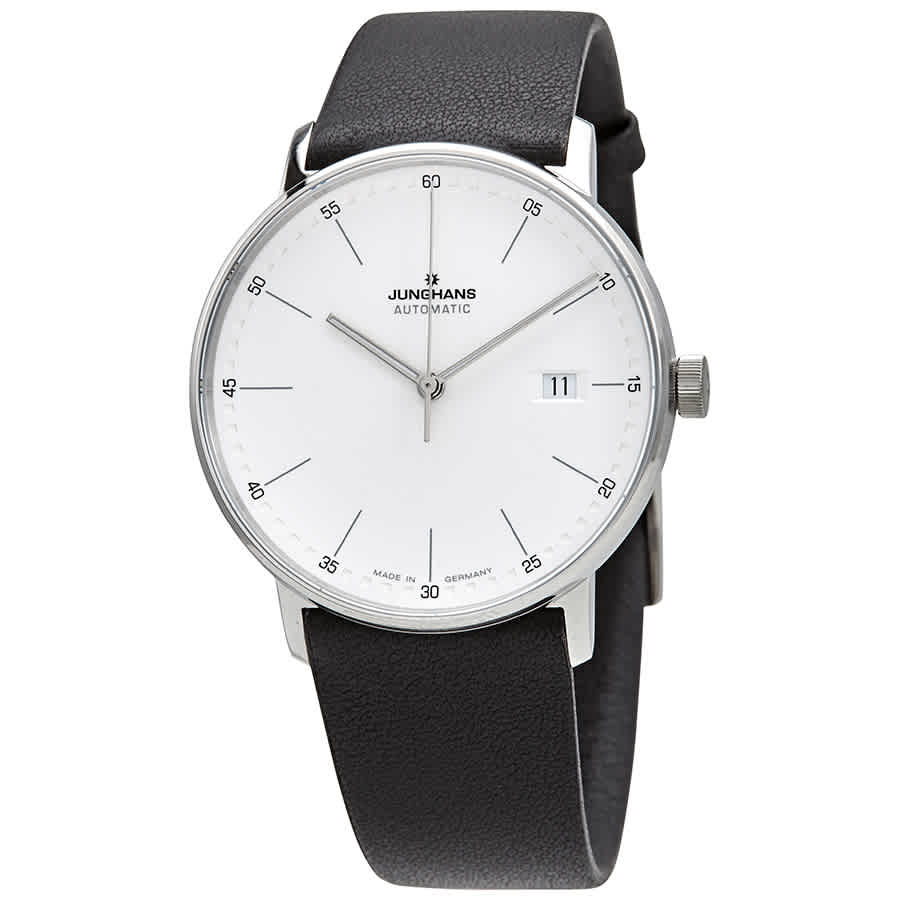 Junghans Automatic White Dial Mens Watch 027/4730.00 In Black,silver Tone,white
