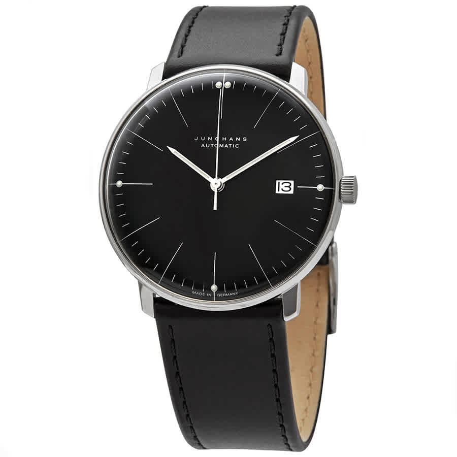Junghans Max Bill Automatic Black Dial Mens Watch 027/4701.00 In Black,silver Tone