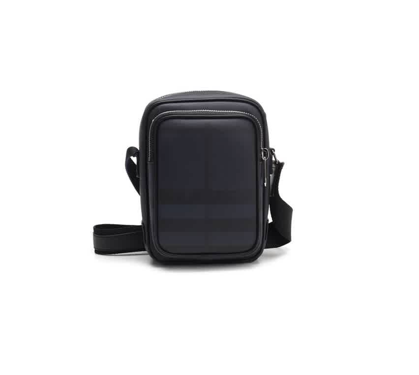 Burberry Small London Check Crossbody Bag In Black,blue