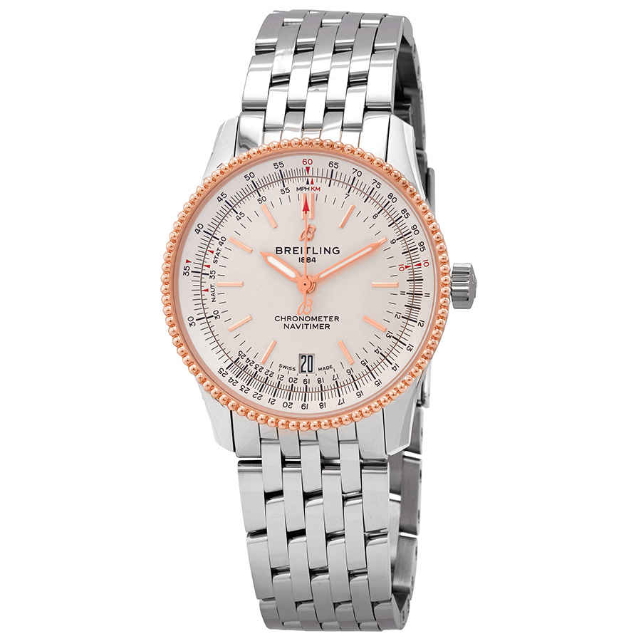 BREITLING NAVITIMER AUTOMATIC CHRONOMETER SILVER DIAL 38 MM WATCH U17325211G1A1