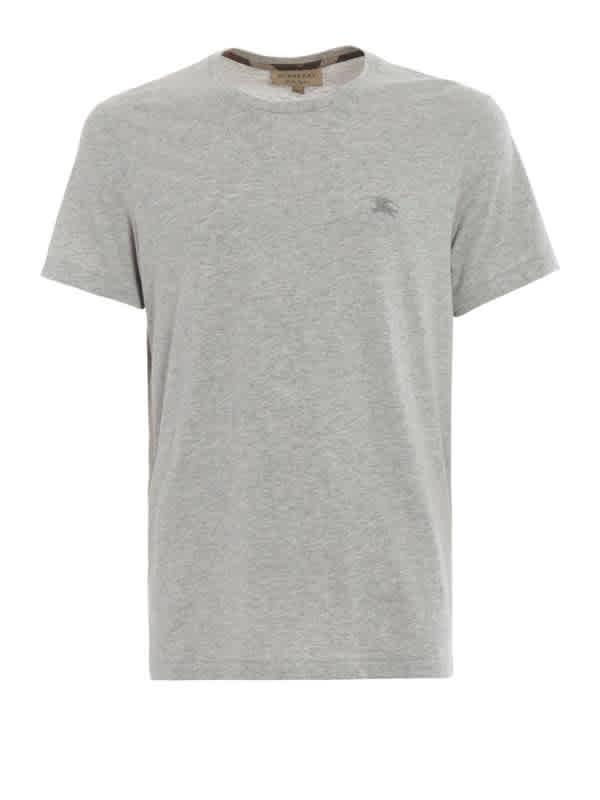 Burberry Mens Pale Grey Melng Cotton Jersey T-shirt