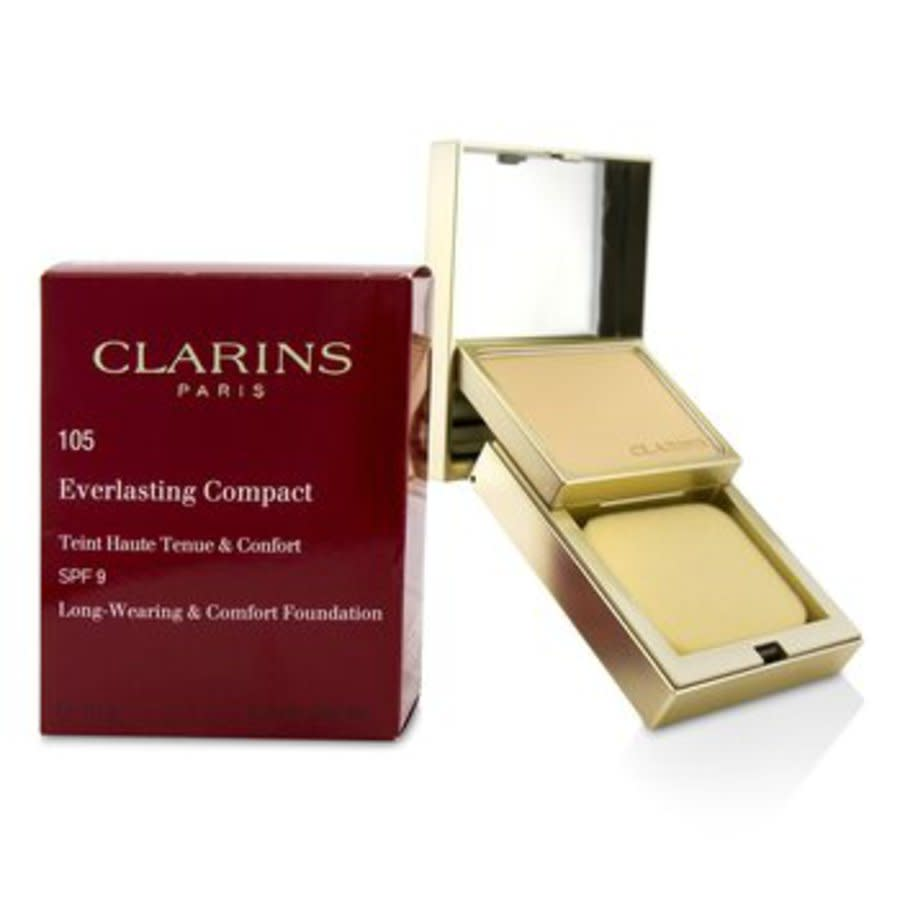 Clarins - Everlasting Compact Foundation Spf 9 - # 105 Nude 10g/0.3oz In Beige