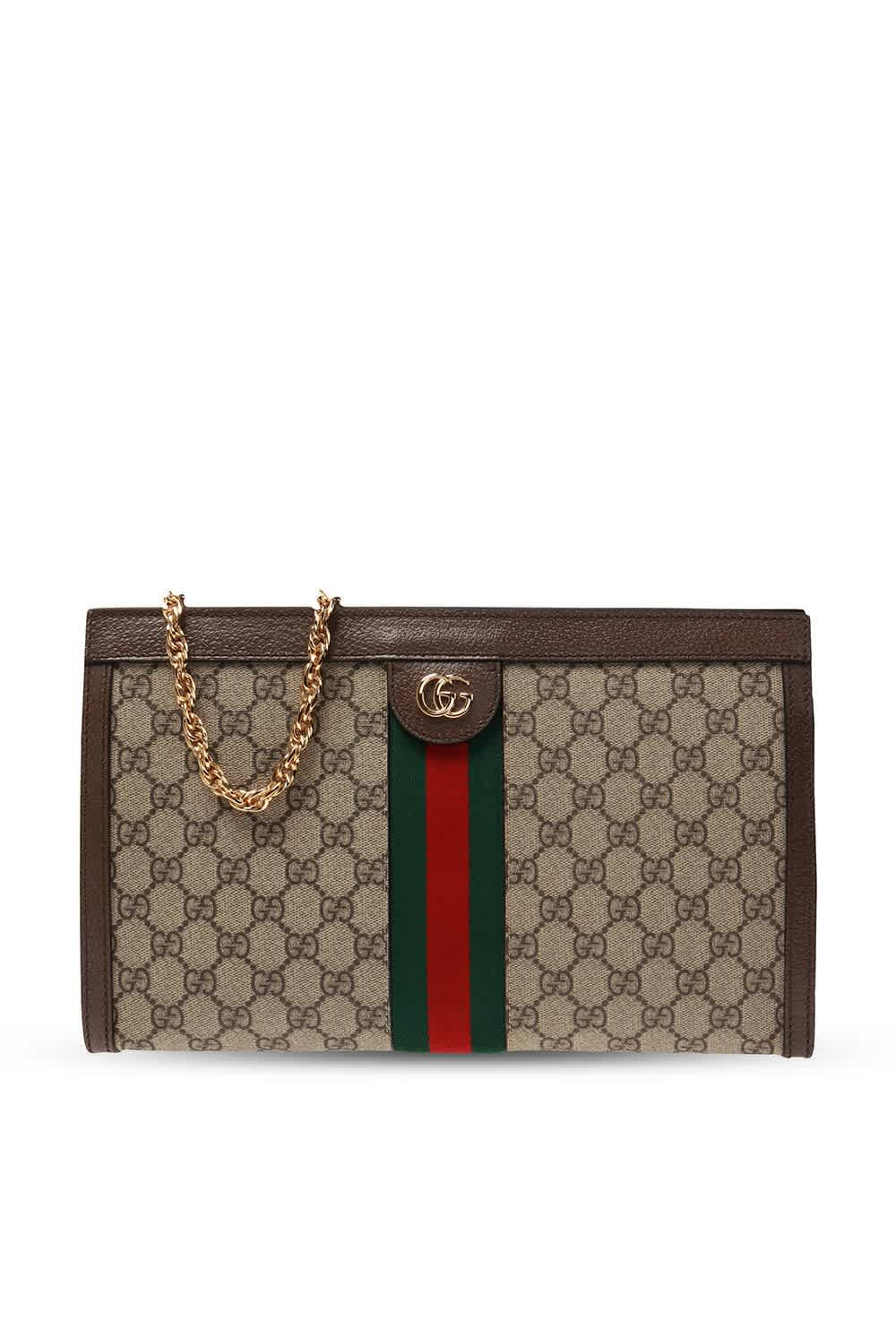 Gucci Ophidia Gg Medium Shoulder Bag In Beige,blue,brown,gold Tone,red,two Tone