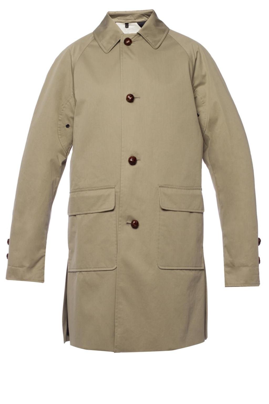 Burberry Ladies Reissued Gabardine Car Coat In Beige,brown