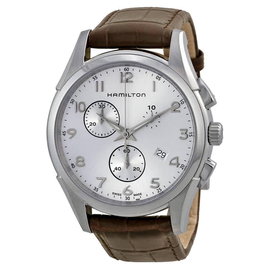 Hamilton Jazzmaster Thinline Chronograph Mens Watch H38612553 In Brown