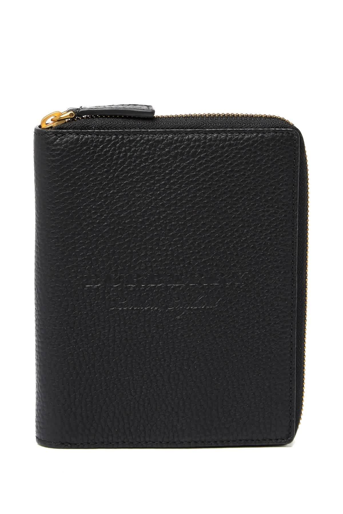 Burberry Ladies Walcott Leather Mini Portfolio In Black