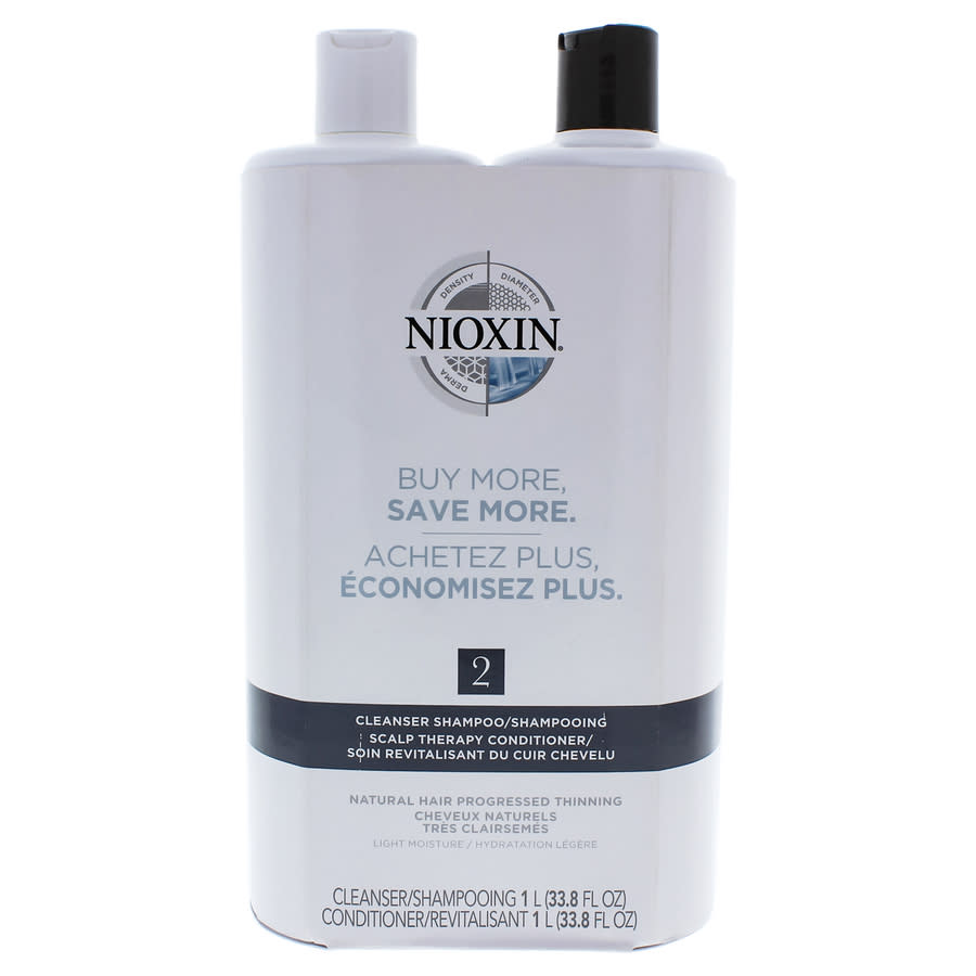 Nioxin System 2 Cleanser Scalp Therapy Conditioner Duo By  For Unisex - 33.8 oz Shampoo Conditioner In N,a