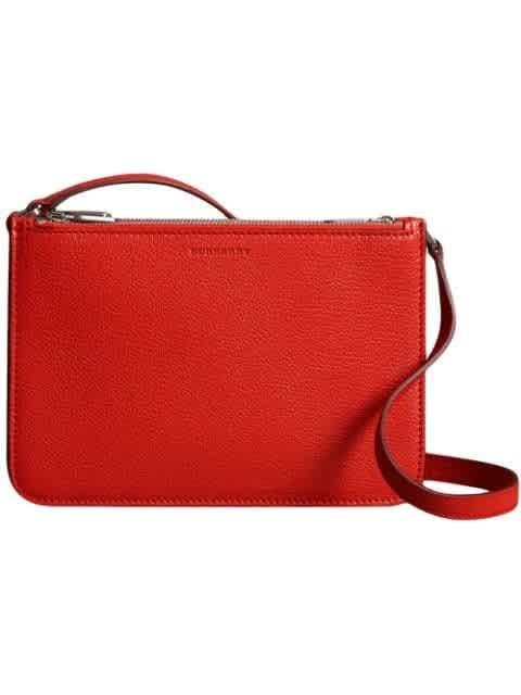 Burberry Bright Red Triple Zip Crossbody Bag
