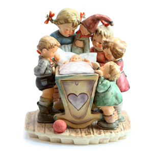 Hummel 1994 Century Collection ''rock-a-bye'' Figurine 155111 In Multi