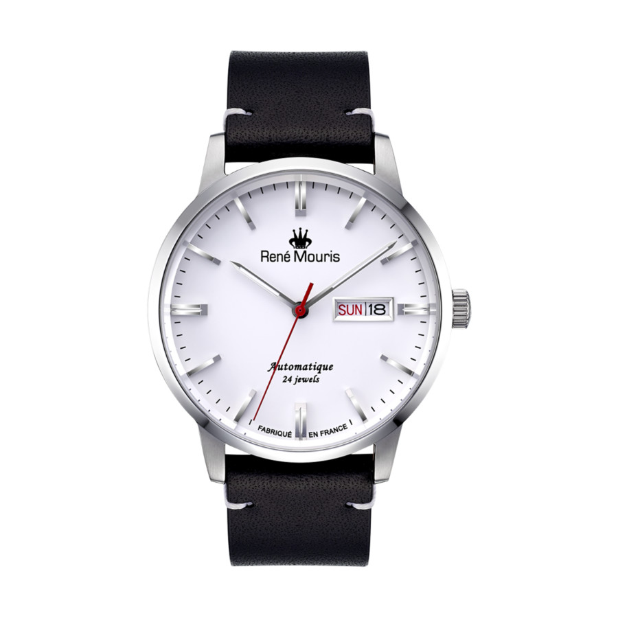 Rene Mouris Noblesse Automatic White Dial Mens Watch 10105rm1 In Black