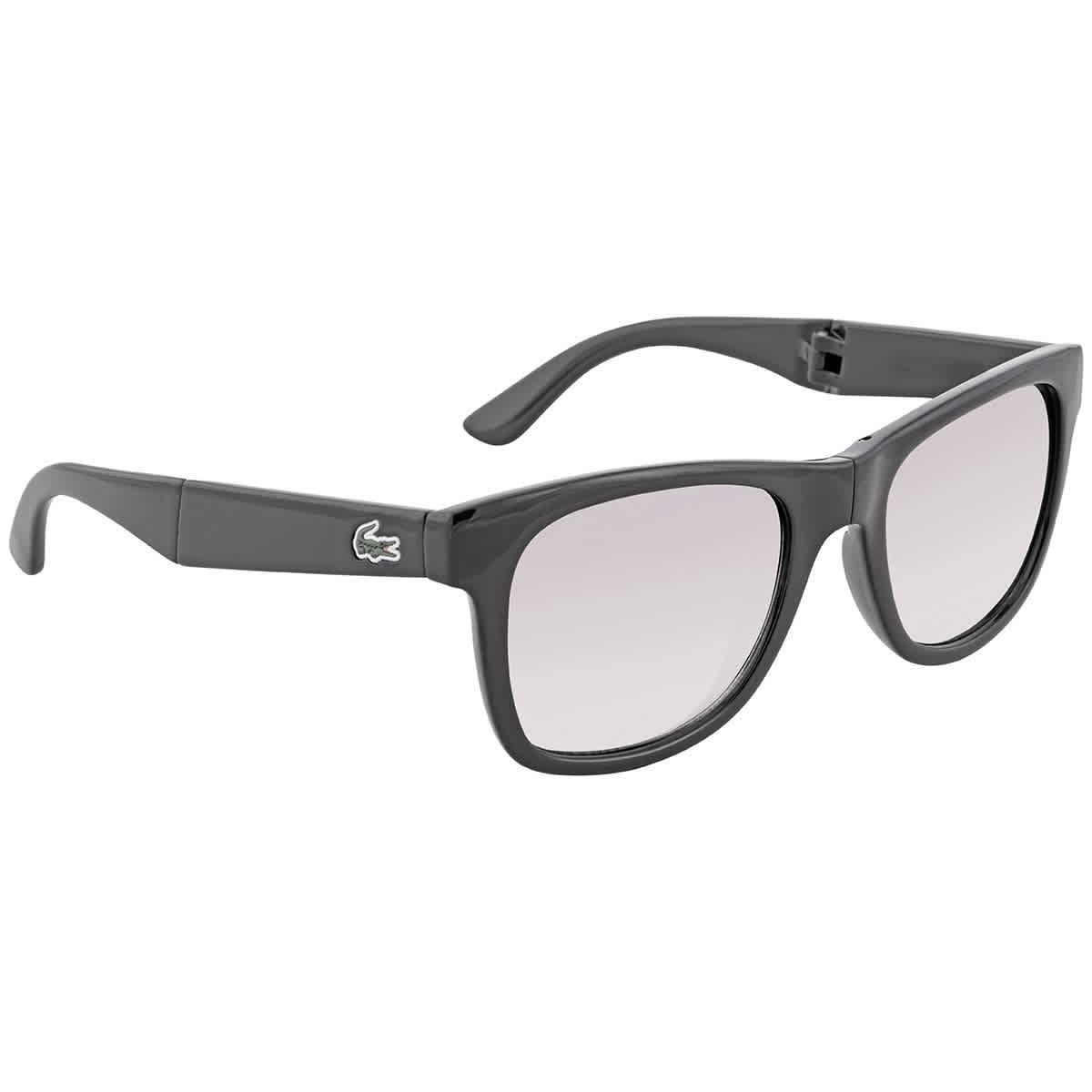 Lacoste Grey Gradient Square Unisex Sunglasses L778s 001 52 In Black