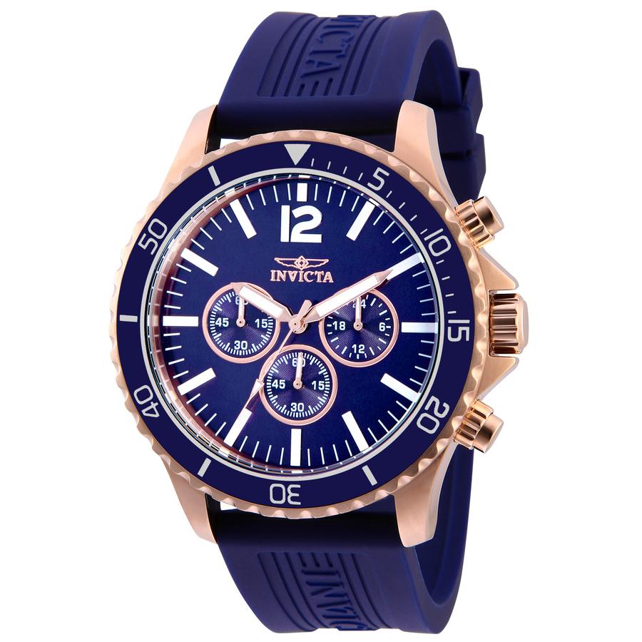 Invicta Pro Diver Blue Dial Blue Polyurethane Mens Watch 32509