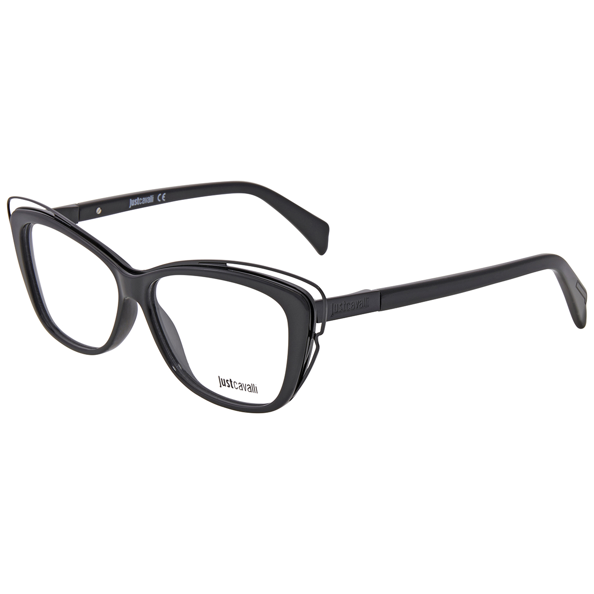 Just Cavalli Ladies Black Cat Eye Eyeglass Frames Jc070400155