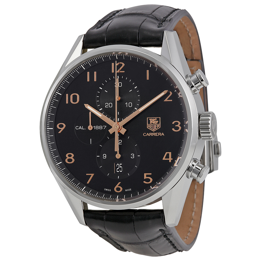 TAG HEUER PRE-OWNED TAG HEUER CARRERA CALIBRE 1887 CHRONOGRAPH AUTOMATIC MENS WATCH CAR2014.FC6235