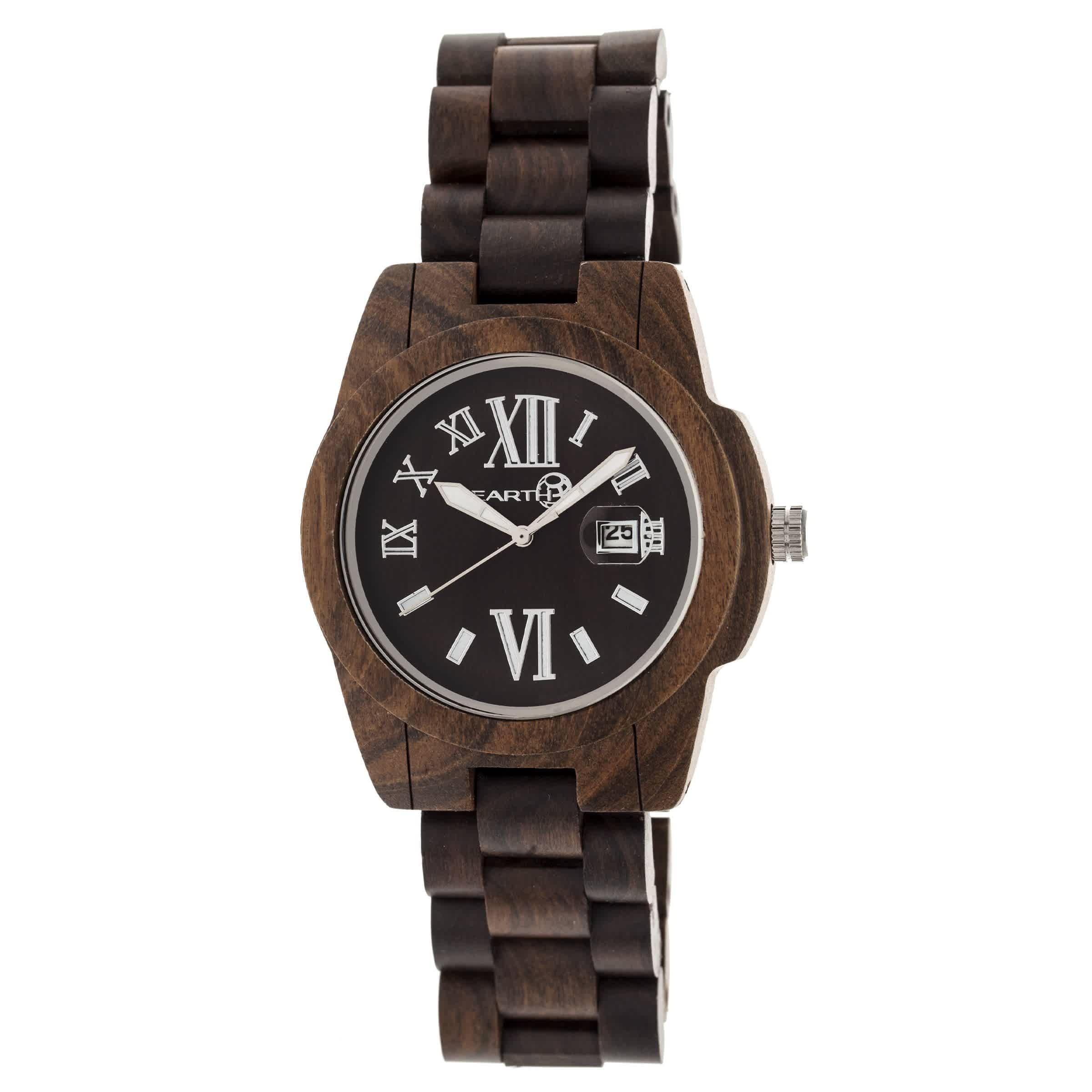Earth Heartwood Eco-friendly Dark Brown Wood Heartwood Unisex Watch Ew1502