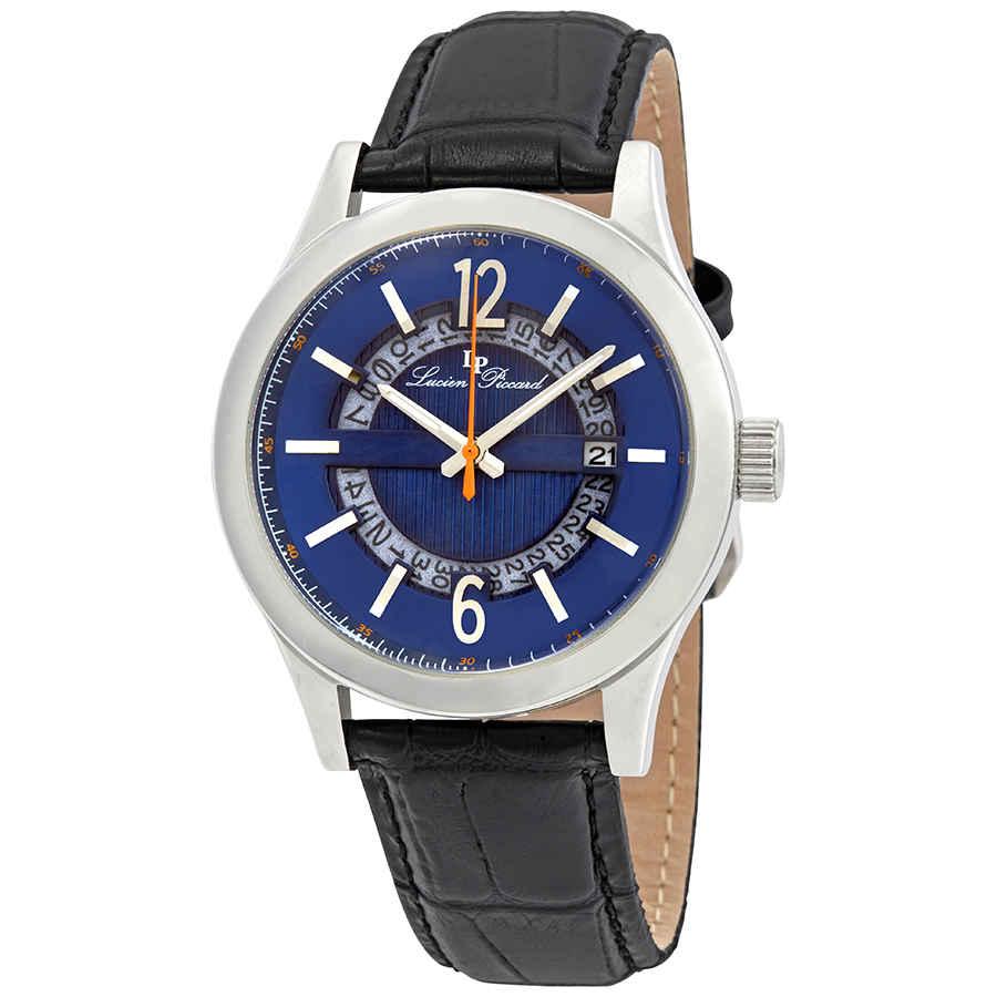 Lucien Piccard Oxford Blue Dial Mens Watch Lp-40020-03 In Black,blue,silver Tone