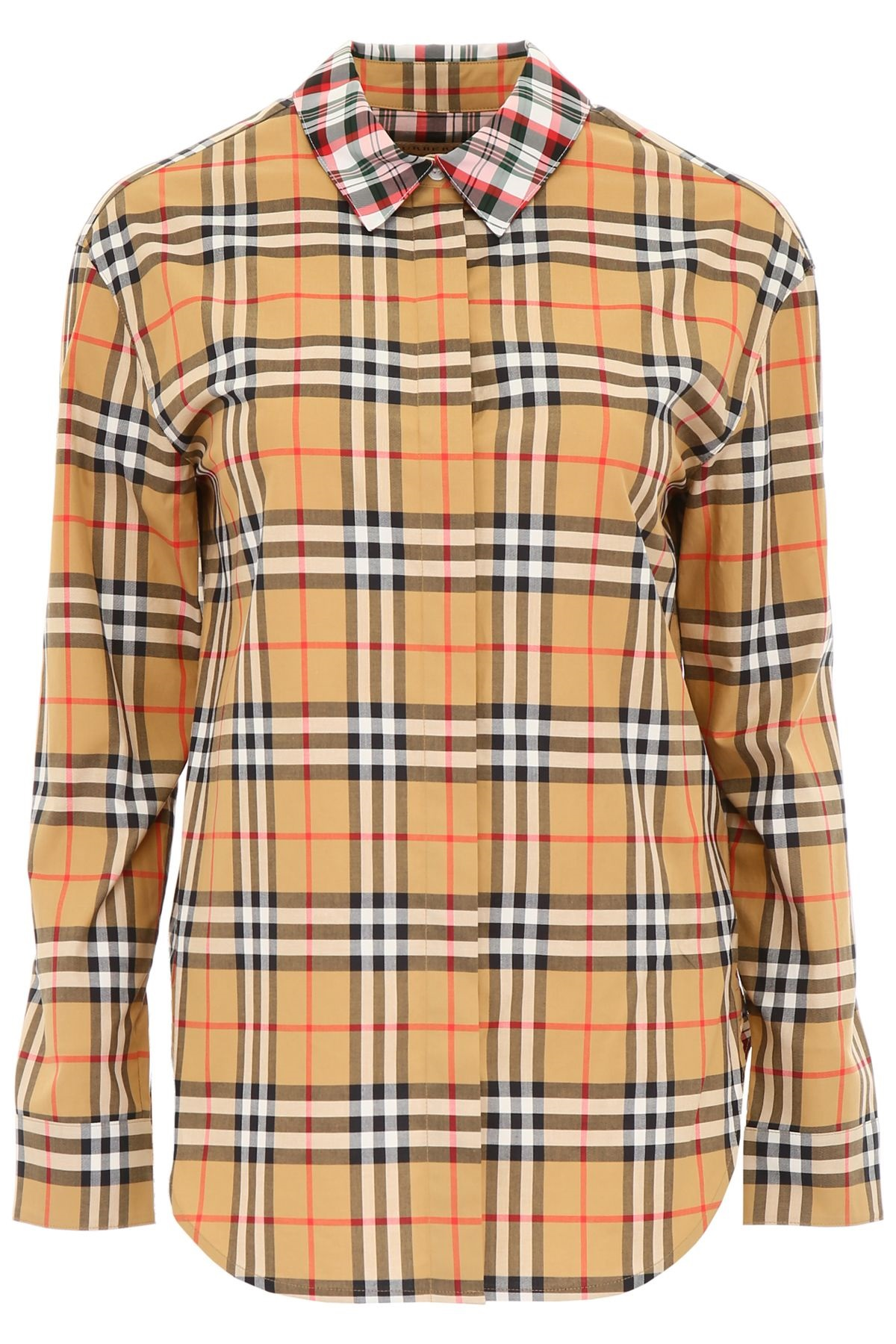 Burberry Kestrel Check Shirt In Mother Of Pearl